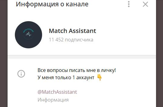 Match Assistant Телеграмм